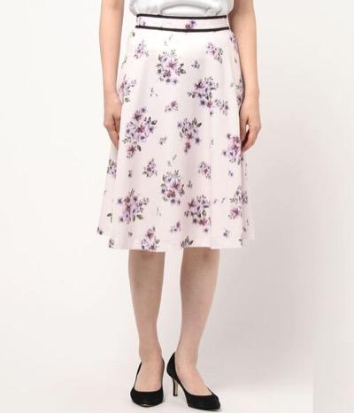 LAISSE PASSE(レッセ パッセ)フラワーブーケスカート