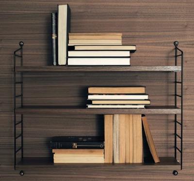 String Pocket Walnut×Black ストリングポケット ウォルナット ブラック string shelf 飾り棚