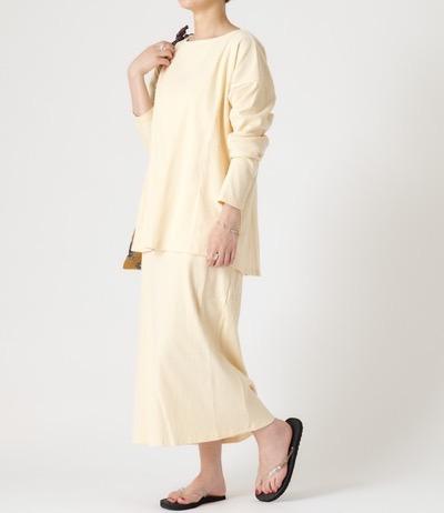 TERRITOIREルームウェアパジャマ スリットカットソー+スカートセットアップ