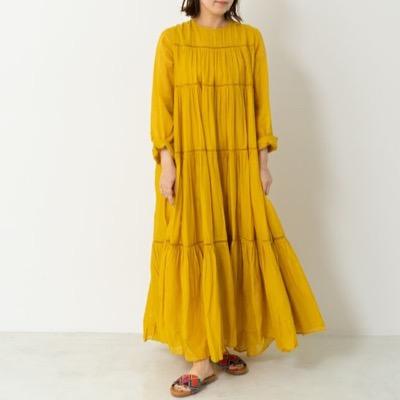 NE QUITTEZ PAS!Cotton Voile Tiered Maxi Dress