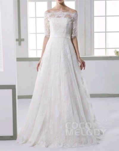 COCOMELODYレース ビスチェ ウェディングドレス