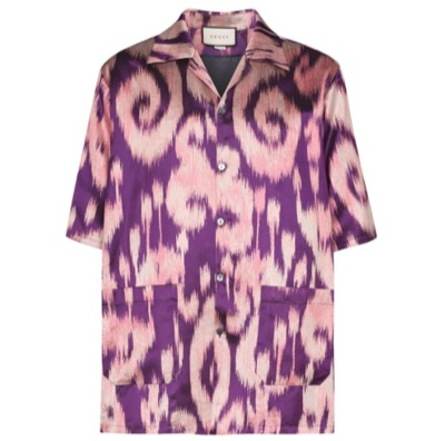 GUCCIプリント ボウリングシャツ