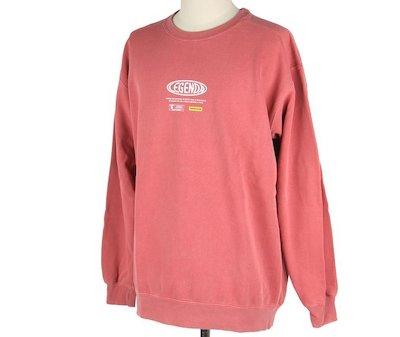 NEW BEGINNING Sweat Shirts -WASH RED(LEC968 ) Legenda(レジェンダ)