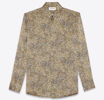 SAINT LAURENTシャツ(シルク/レオパードプリント)