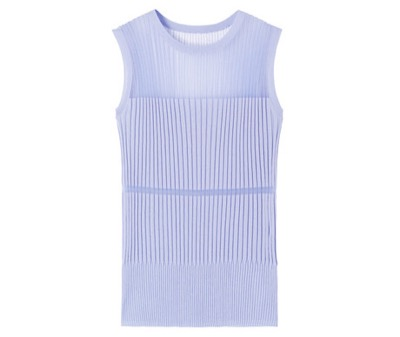 LE CIEL BLEU Transparent Sleeveless Knit Tops