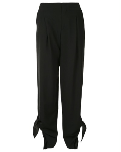 Irene knotted hem cropped trousers