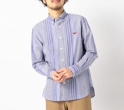 NOLLEY'Sクジラ刺繍ボタンダウンシャツ 20SS
