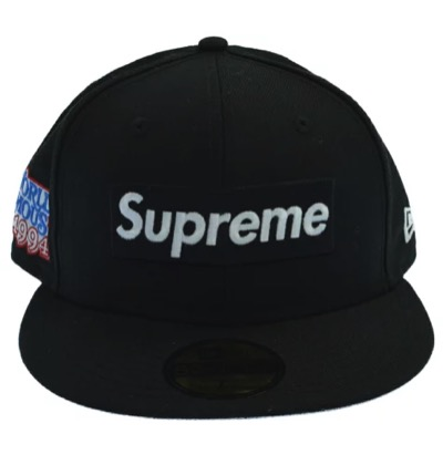 Supreme ワールド フェイマス ボックス ロゴ ニューエラ キャップ ブラック