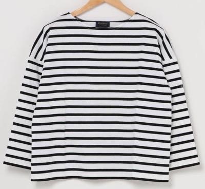 Le minorPETIT COPAIN ボーダードロップショルダーTシャツ