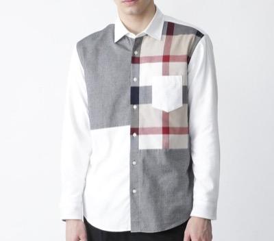 BLACK LABEL CRESTBRIDGE(ブラックレーベル・クレストブリッジ)クレストブリッジチェックパッチワークネルシャツ