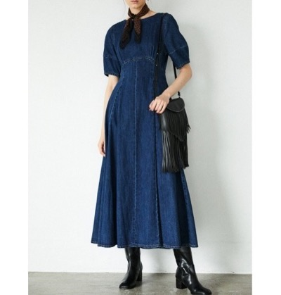 MOUSSYH/S COCOON SLEEVE フレアドレス