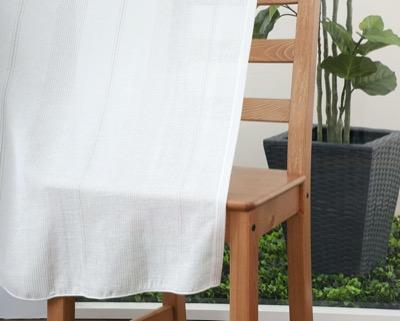 カーテンじゅうたん王国ストライプ柄の形状記憶付きオーダーレースカーテン(ベージュ)PYL1012