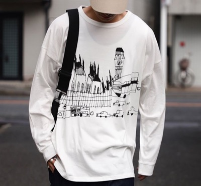 antiquaロンT 純真な感性でロンドンの街並みを描く。