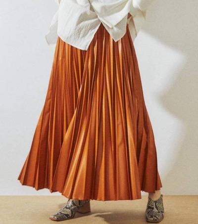 UN3D.ウルシオリガミプリーツスカート
