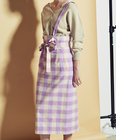 CAST:ギンガムチェックタイトスカート