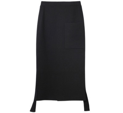 LE ciel blue Wool Smooth Skirt