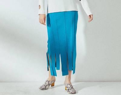 UN3D.ランダムニットスカート