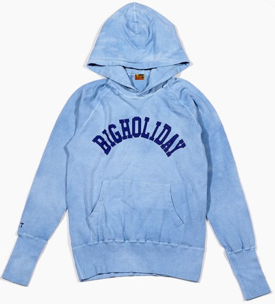 TMT GAUZE MINI FRENCH TERRY HOODIE INDIGO DYED(BIGHOLIDAY) パーカー