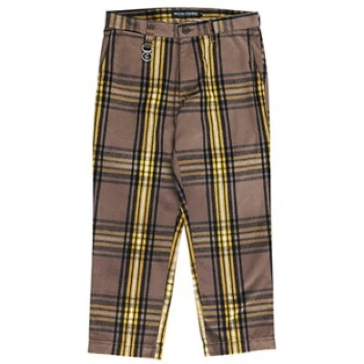 ROLLING CRADLE CHECK CROPPED PANTS / BROWN