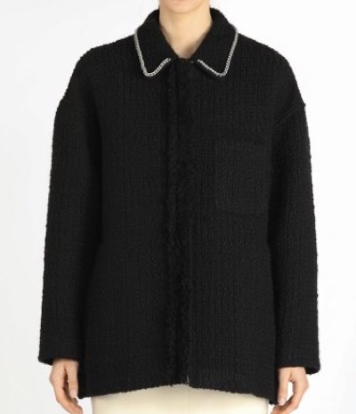 N°21 Oversized Chain-Detailed Tweed Jacket