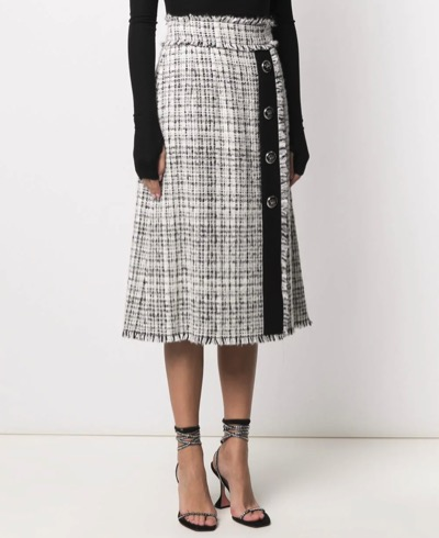 Dolce & Gabbanaハイウエスト ツイードスカート