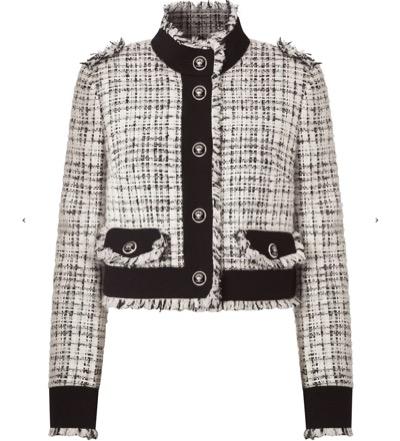 Dolce & Gabbanaクロップド ツイードジャケット