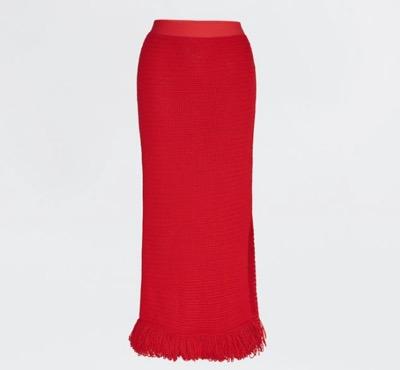 Bottega Venetaコンパクトコットンメッシュのロングスカート