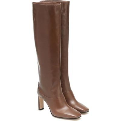 JIMMY CHOOmahesa 85 leather knee-high boots Clove