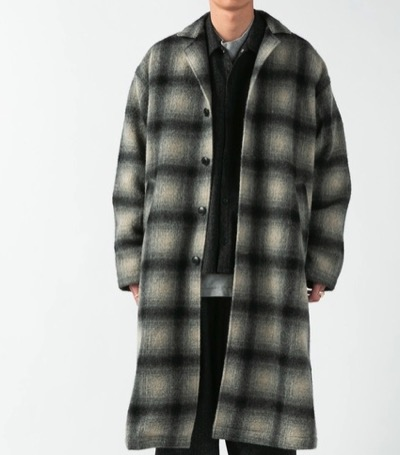 COOTIE PRODUCTIONS Napping Ombre Check Shop Coat