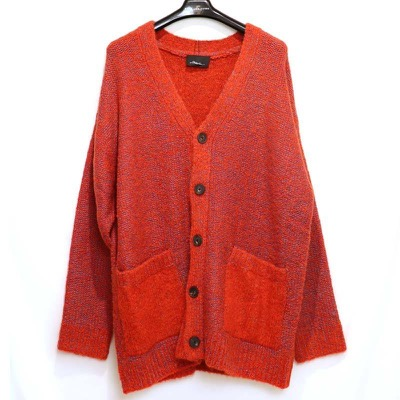 Phillip Lim BRUSHED PLAID JERSEY CARDIGAN