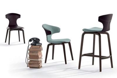 PoltronaFrau 椅子「Montera モンテーラ」サドルキャメル/ハバナBR