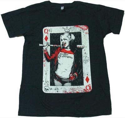 GonyetプリントTシャツ ハーレイクイン スーサイド・スクワッド 映画Tシャツ
