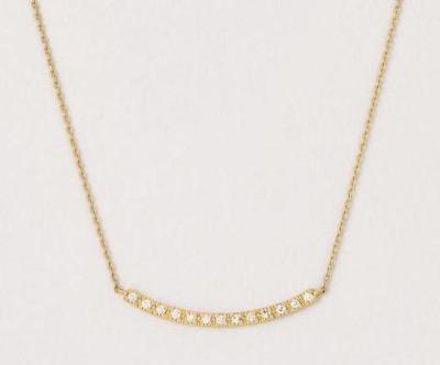 TAKE-UP K18 YGダイヤモンドラインネックレス(M)