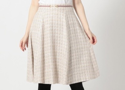 MISCH MASCH ビット付ツィードスカート