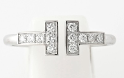 Tiffany & Co ティファニー T ダイヤモンド ワイヤー リング