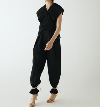IRENE Pleated Sash Jumpsuit