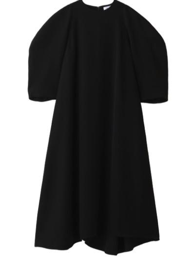 ENFOLD PEツイル アシンメトリーフレア ドレス・ワンピース