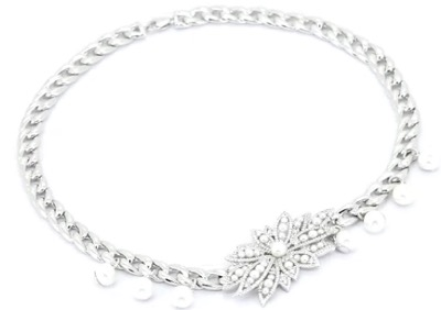 APM Monaco Silver Divines Chain Necklace With Pearl