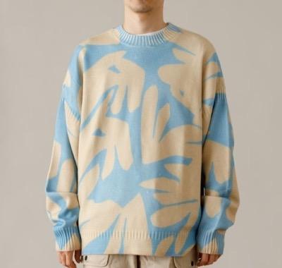 Saturdays NYC Tahiti Palms Mixed Stitch Sweater