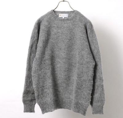 SHETLAND WOOLLEN CO プレーンシャギードッグセーター