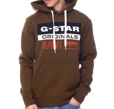 G-Star RAW Color Block Originals Logo Hoodie