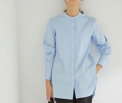 ROPÉ ハイパワーブロードボザムチュニックノーカラーシャツ