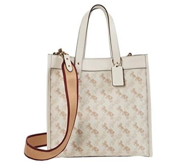 COACH Horse and Carriage Coated Canvas Field Tote