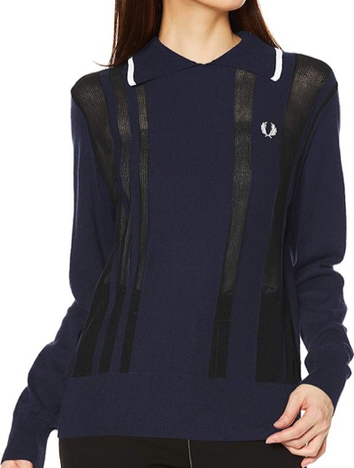 FRED PERRY Stripe Knitted Polo