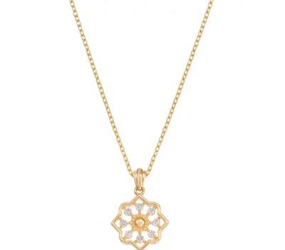 TSUTSUMI K10イエローゴールドダイヤモンドネックレス