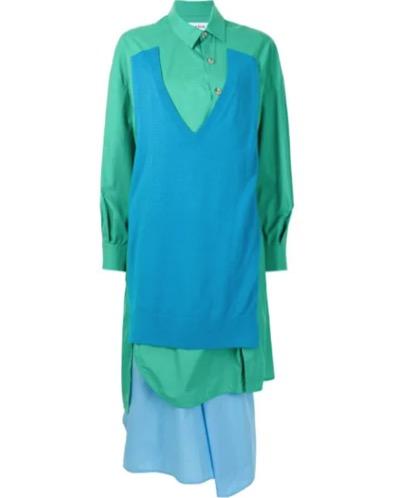 ENFOLD レイヤード シャツドレス