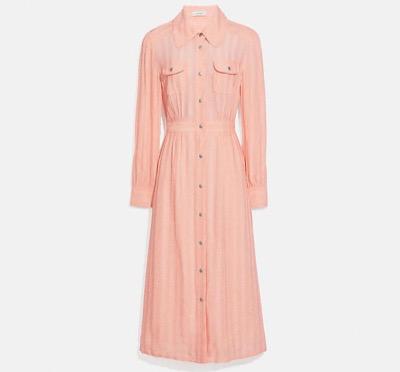 COACH ロング ストライプ ビスコース ドレス