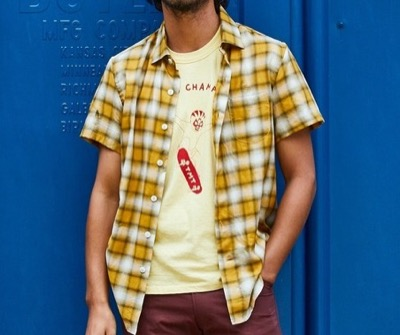 TMT OMBRE CHECK SHORT SLEEVES SHIRTS