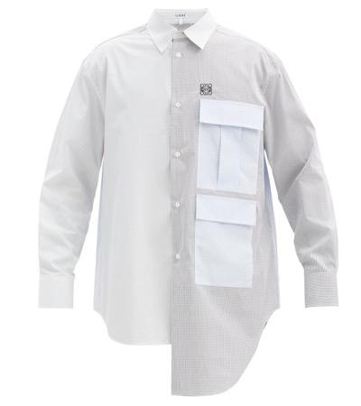 LOEWE アナグラム チェック コットンシャツ