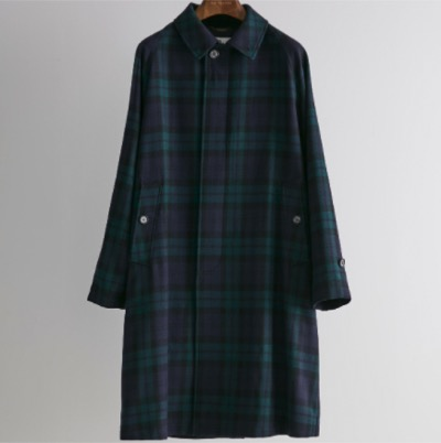 OLD ENGLAND ブラックウオッチステンカラーコート